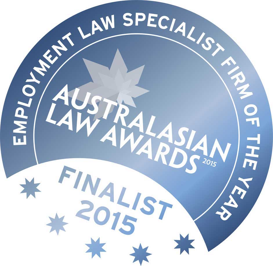 Australasian Law Awards - Finalist 2015 logo