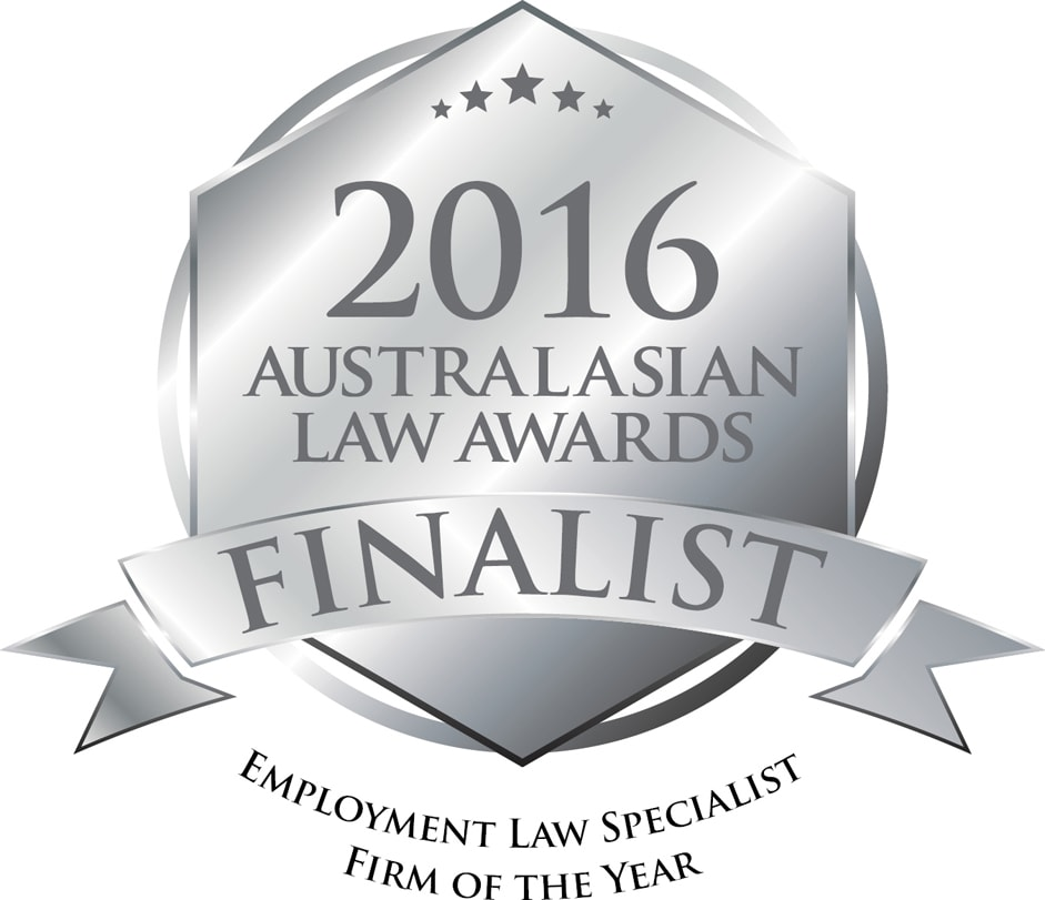2016 Australasian Law Awards Finalist logo