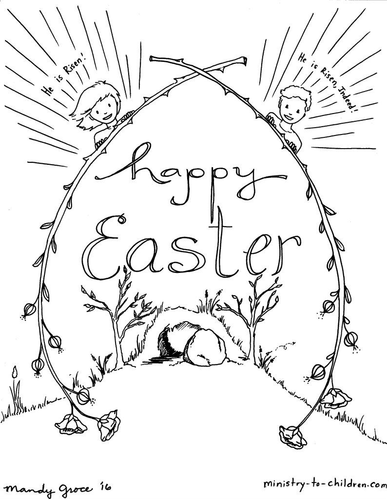 christian-easter-coloring-pages-with-for-toddlers-printable - MDC Legal